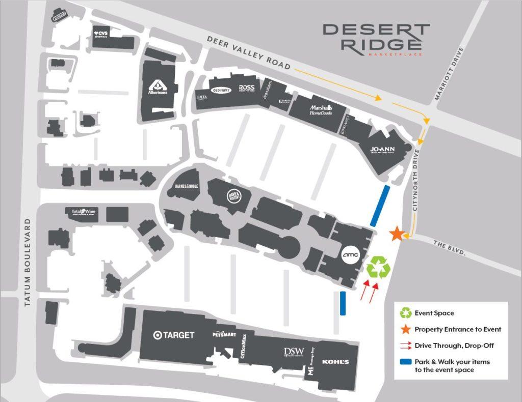 desert ridge mall map I Recycle Phoenix desert ridge mall map